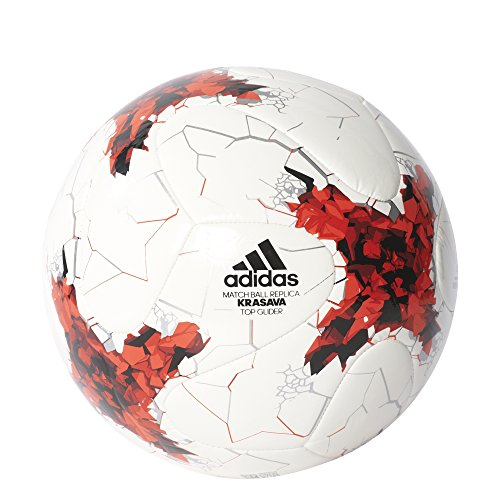 Adidas-Adulte-confederations-Cup-topglid-Football-Top-WhiteRedPower-RedClear-Grey-Bottom-Black-5-0