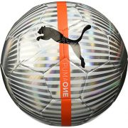 PUMA-One-Chrome-Ballon-dentrainement-Puma-WhiteArgentPuma-BlackFiery-Coral-Taille-5-0