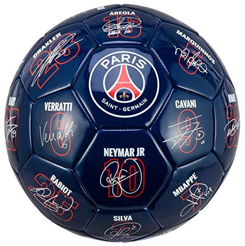 PARIS-SAINT-GERMAIN-Ballon-PSG-Signatures-des-Joueurs-Collection-Officielle-T-5-0