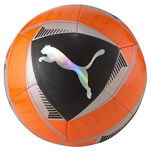 PUMA-Icon-Ball-Ballon-De-Foot-Unisex-Adult-Shocking-Orange-Black-Silver-5-0