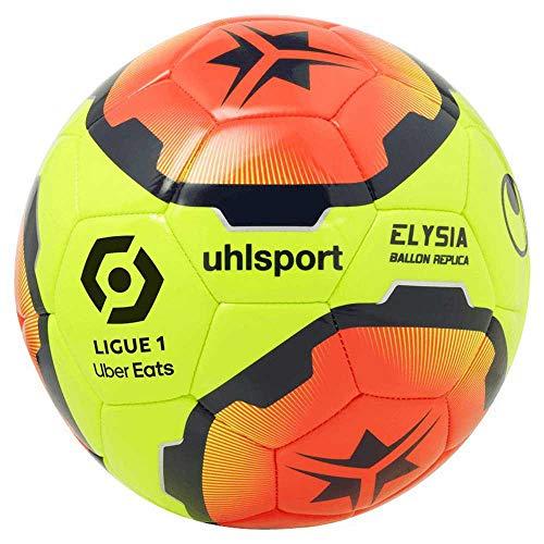 uhlsport-Ballon-de-Football-Unisexe-pour-Adulte-Elysia-1001704012020-Jaune-FluoOrange-FluoMarron-5-0