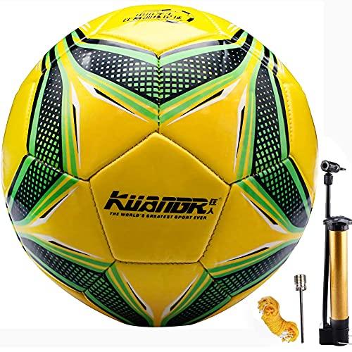 Senston-Ballon-de-Foot-Taille-5-Adultes-Enfants-Entranement-Ballon-de-Foot-0