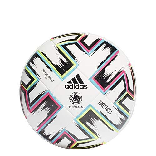 adidas-Uniforia-League-Box-Ballon-De-Football-Mixte-BlancNoirSignal-VertCyan-Clair-5-0